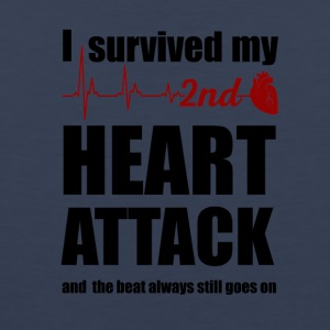 I survived my second Heart Attack - Men's Premium Tank