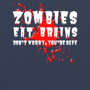 Zombies eat brains - Men's Premium Tank