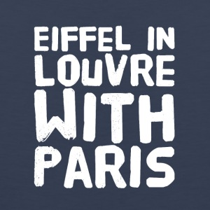 Eiffel in louvre with paris - Men's Premium Tank