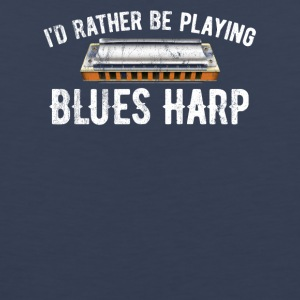 I'd Rather Be Playing Blues Harp - Men's Premium Tank