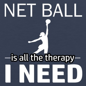 Netball is my therapy - Men's Premium Tank