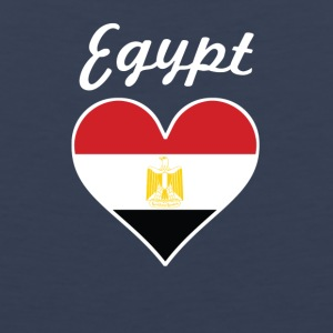 Egypt Flag Heart - Men's Premium Tank