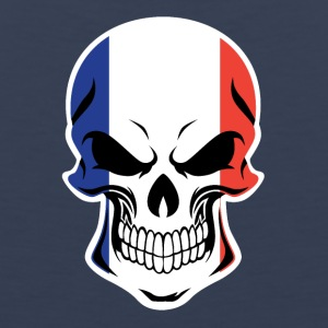 French Flag Skull - Men's Premium Tank