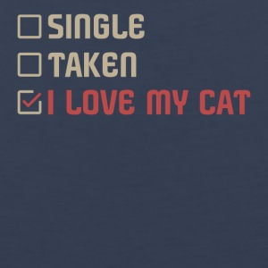 Single Taken I love my Cat - Men's Premium Tank