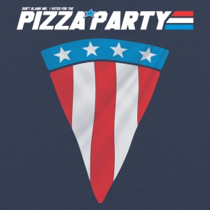 Pizza Party Flag, Funny American Flag - Men's Premium Tank