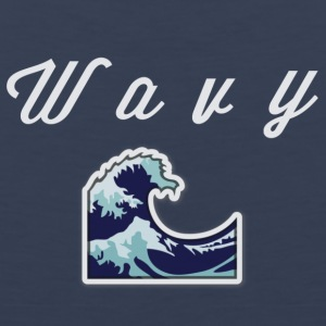 Wavy Abstract Design - Men's Premium Tank