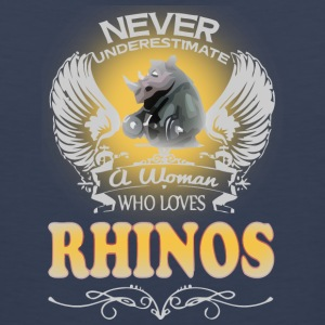 A Woman Who Love Rhinos - Men's Premium Tank