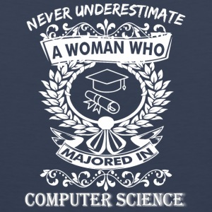 Never Underestimate Woman Majored Computer Science - Men's Premium Tank