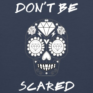 Calavera - Don't be Scared White - Men's Premium Tank