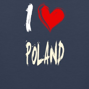 I love POLAND - Men's Premium Tank