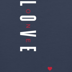 One Love (White/Red Letters) - Men's Premium Tank