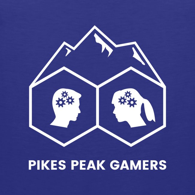 Pikes Peak Gamers Logo (Transparent White)