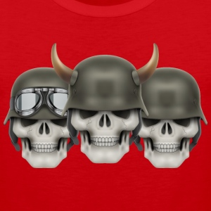 Skull helmet horn vector illustration cool art - Men's Premium Tank