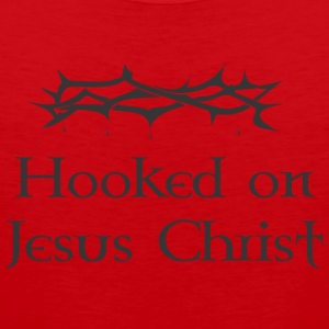 hooked on jesus - Men's Premium Tank