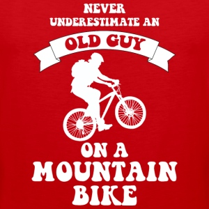 Never underestimate an old guy on a mountain bike - Men's Premium Tank
