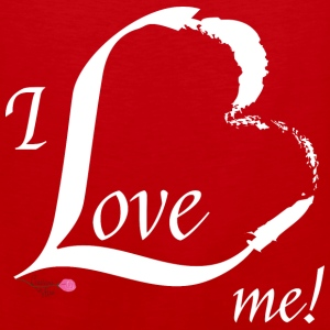 I Love me in white - Men's Premium Tank
