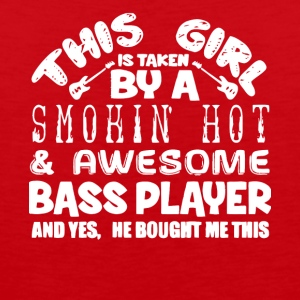 A Smokin' Hot And Awesome Bass Player T Shirt - Men's Premium Tank