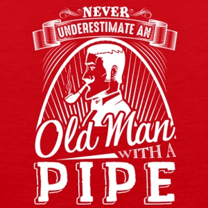 Never Underestimate Old Man With A Pipe Shirt - Men's Premium Tank