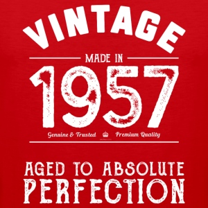 60th Birthday Gift: Vintage 1957 Aged Perfection - Men's Premium Tank