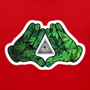 illuminati_weed.bat - Men's Premium Tank