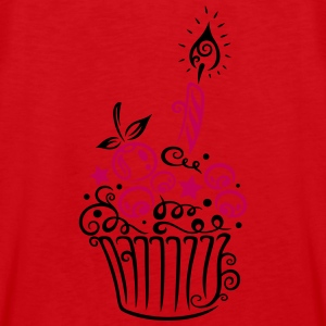 Cupcake with fruits and candle. - Men's Premium Tank
