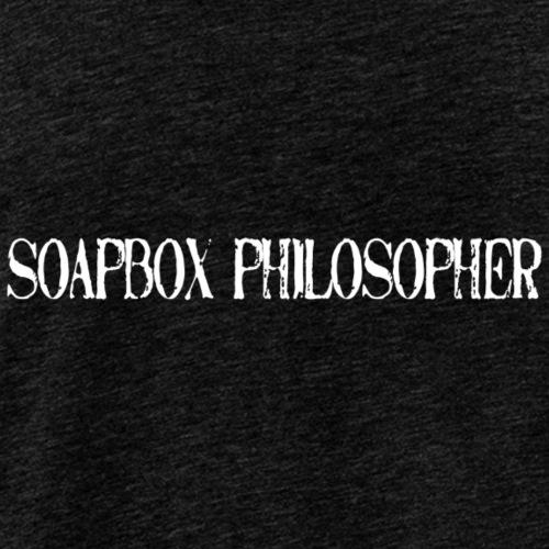 soapbox philosopher-white lettering - Men's Premium Tank