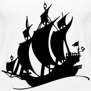 Pirate ship silhuette - Women's Premium Tank Top
