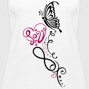 Heart with lettering, butterfly and infinity - Women's Premium Tank Top