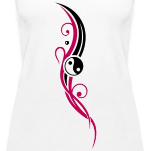 Yin & Yang symbol, Tribal and Tattoo Style. - Women's Premium Tank Top