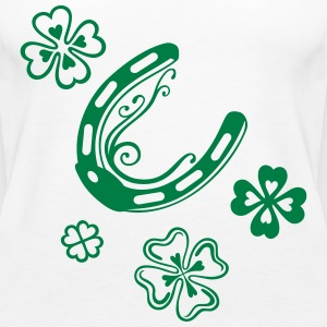 Horseshoes with clover leaves - Women's Premium Tank Top