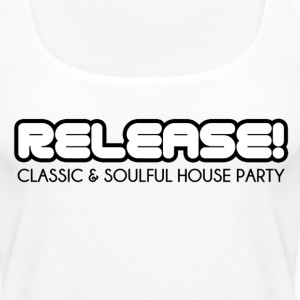 RELEASE! Black logo - Women's Premium Tank Top