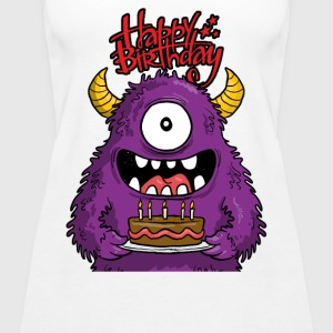 happy birthday monster - Women's Premium Tank Top