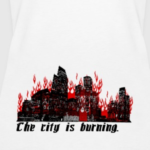 The City is Burning - Women's Premium Tank Top