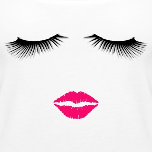 Lipstick and Eyelashes - Women's Premium Tank Top