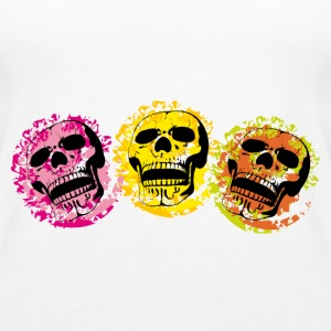 three skulls - Women's Premium Tank Top