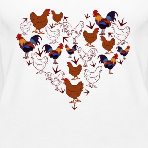 Chicken Love Heart Shirt - Women's Premium Tank Top