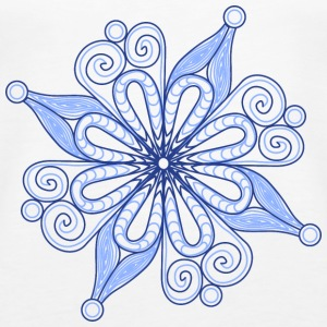 Snow flake - blue - Women's Premium Tank Top