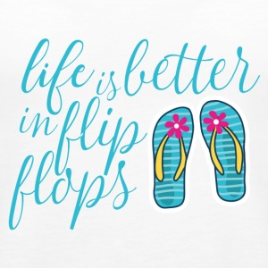 life is better in flip flops - Women's Premium Tank Top