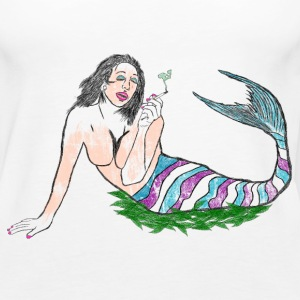 Marijuana Star Mermaid - Women's Premium Tank Top