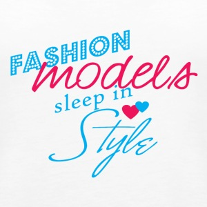 Fashion Model Sleep - Women's Premium Tank Top