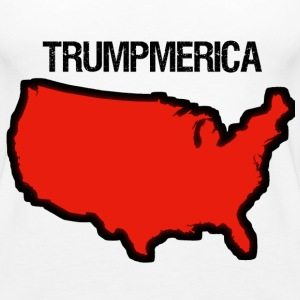 Bold Red United States with 'Trumpmerica' - Women's Premium Tank Top