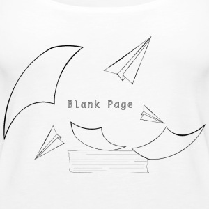 Blank Page Papers Flying - Women's Premium Tank Top