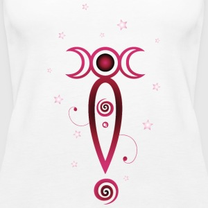 Moon goddess with triple moon - Women's Premium Tank Top