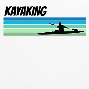 Retro Kayaking - Women's Premium Tank Top
