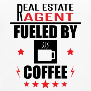 Real Estate Agent Fueled By Coffee - Women's Premium Tank Top