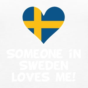 Someone In Sweden Loves Me - Women's Premium Tank Top