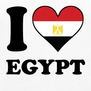 I Love Egypt Egyptian Flag Heart - Women's Premium Tank Top
