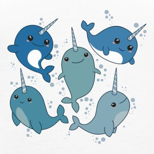 NARWHAL PATTERN CUTE - Women's Premium Tank Top
