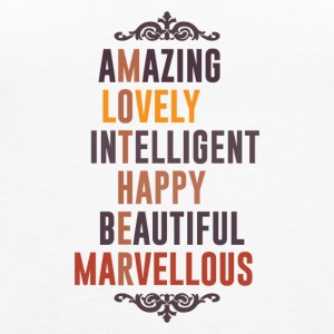 Mother is Amazing Lovely Intelligent Happy Beautif - Women's Premium Tank Top