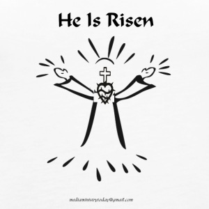 PNG he is risen - Women's Premium Tank Top